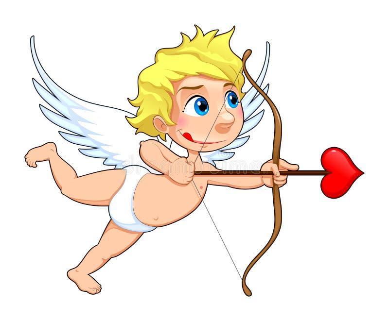 Grappige Cupido. royalty-vrije illustratie