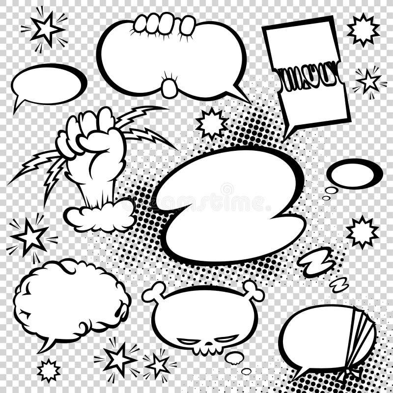Grappige de belleninzameling van de stijltoespraak De grappige illustratie van ontwerp vectorpunten stock illustratie