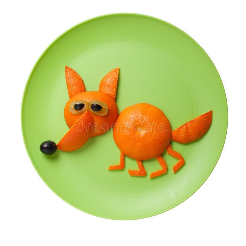 Grappige die vos van sinaasappel wordt gemaakt royalty-vrije stock foto's