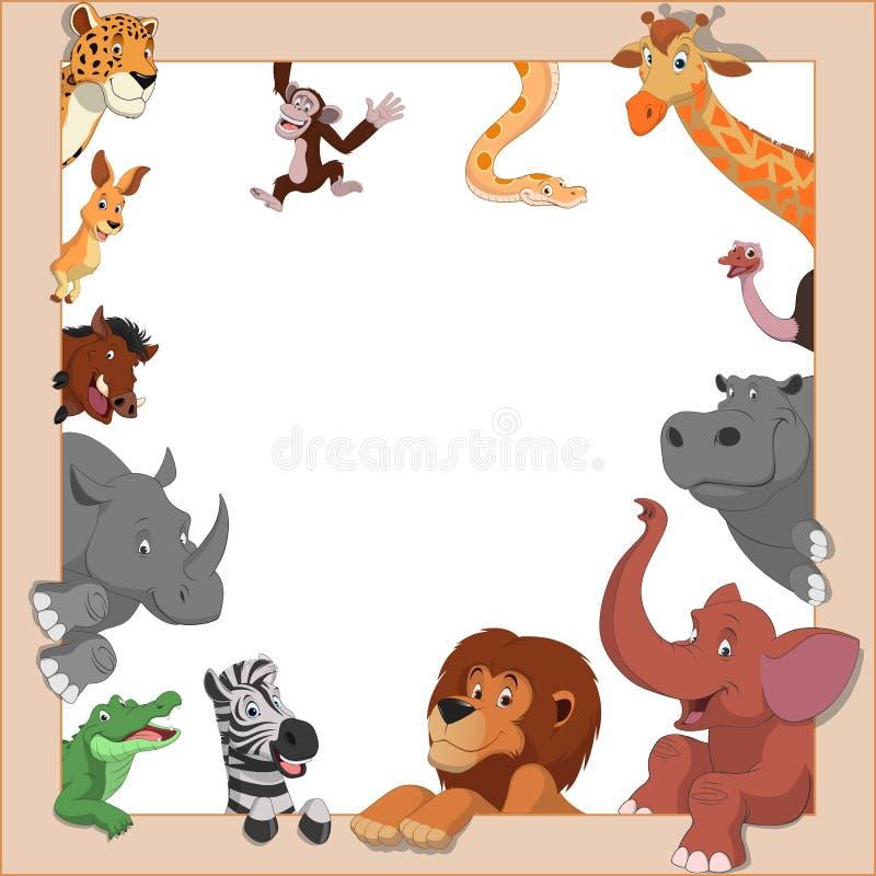Grappige dieren stock illustratie