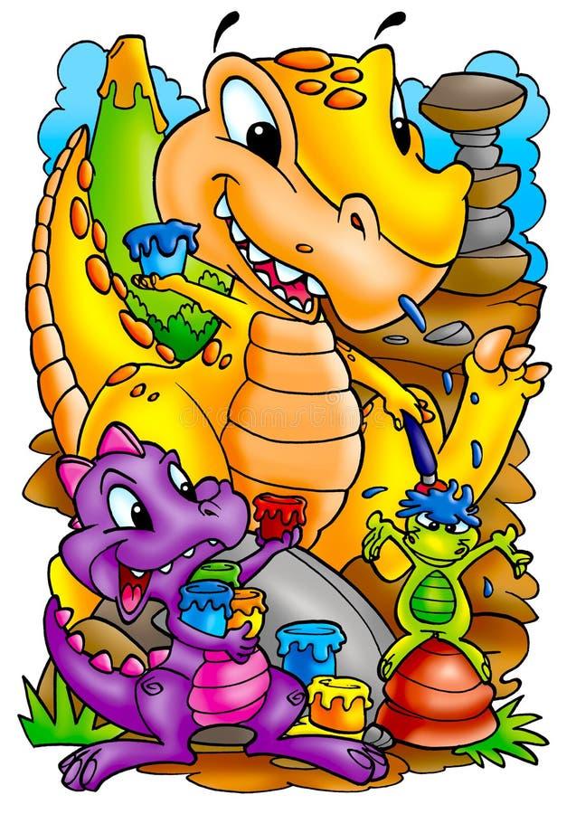 Grappige Dinosaurussen stock illustratie