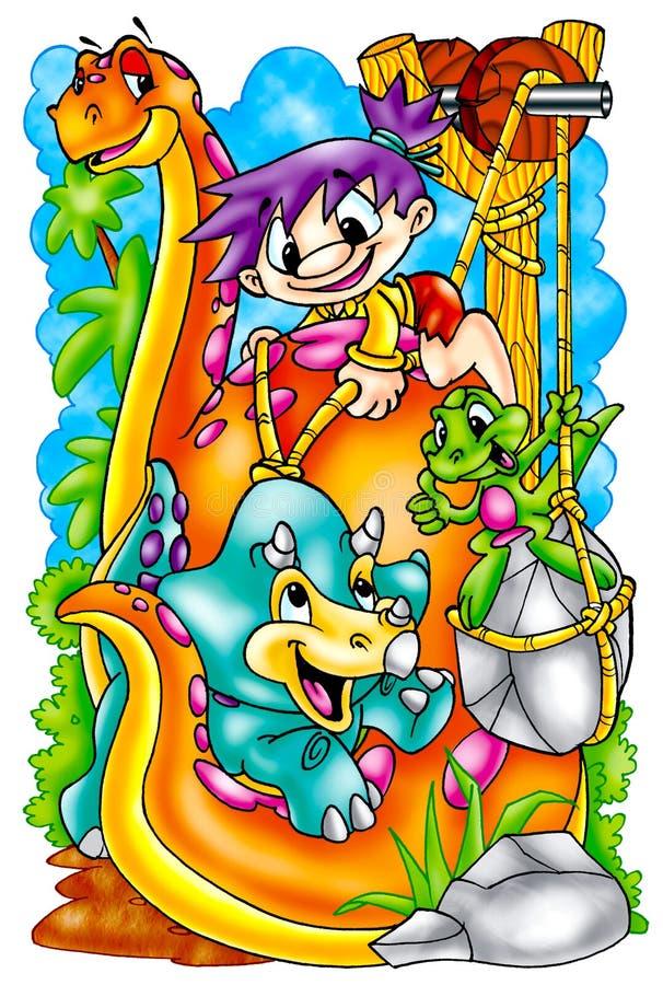 Grappige Dinosaurussen royalty-vrije illustratie