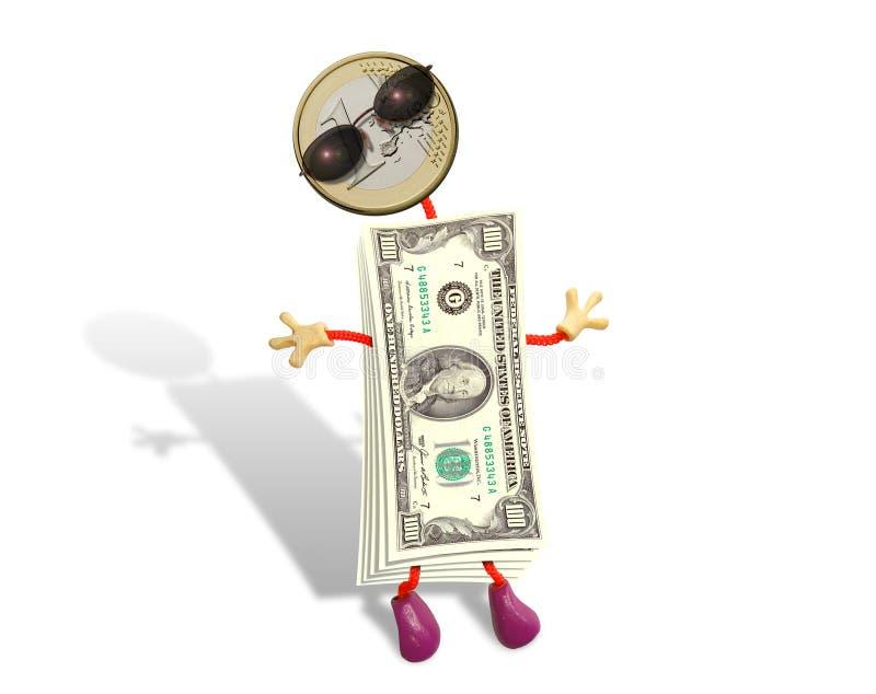 Grappige dollar royalty-vrije stock afbeelding