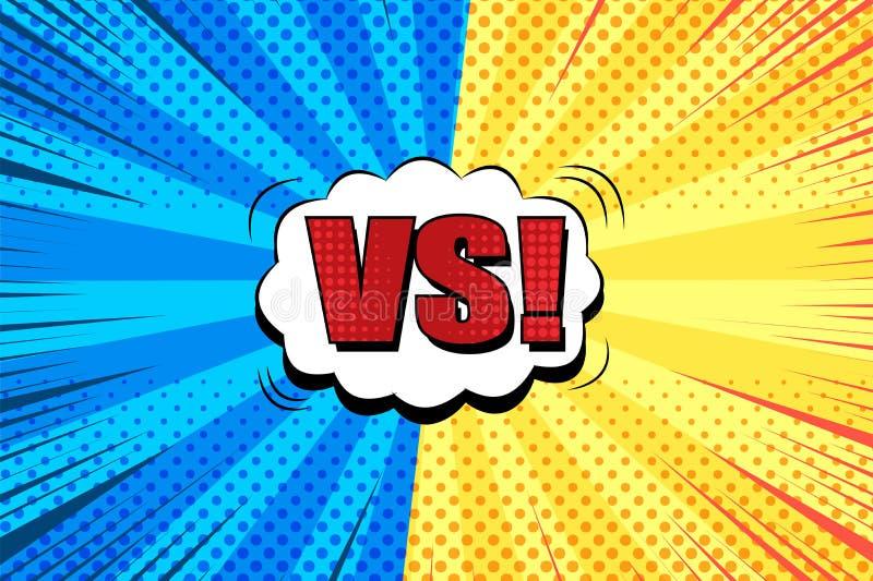 Grappige duel heldere achtergrond vector illustratie