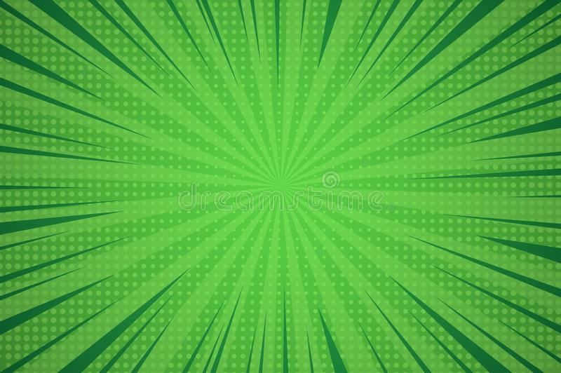 Grappige dynamische groene achtergrond stock illustratie