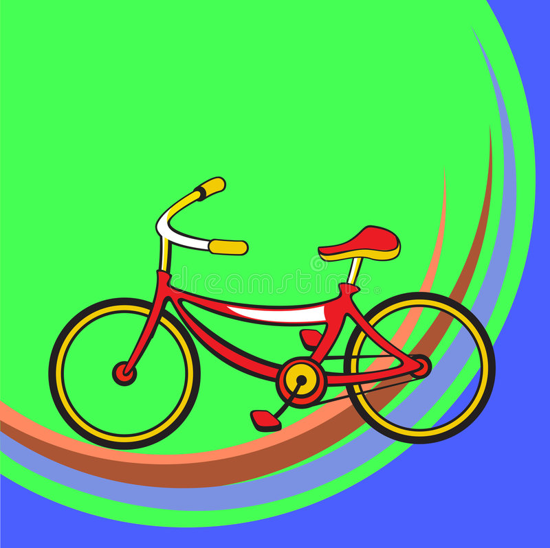 Grappige fiets stock illustratie