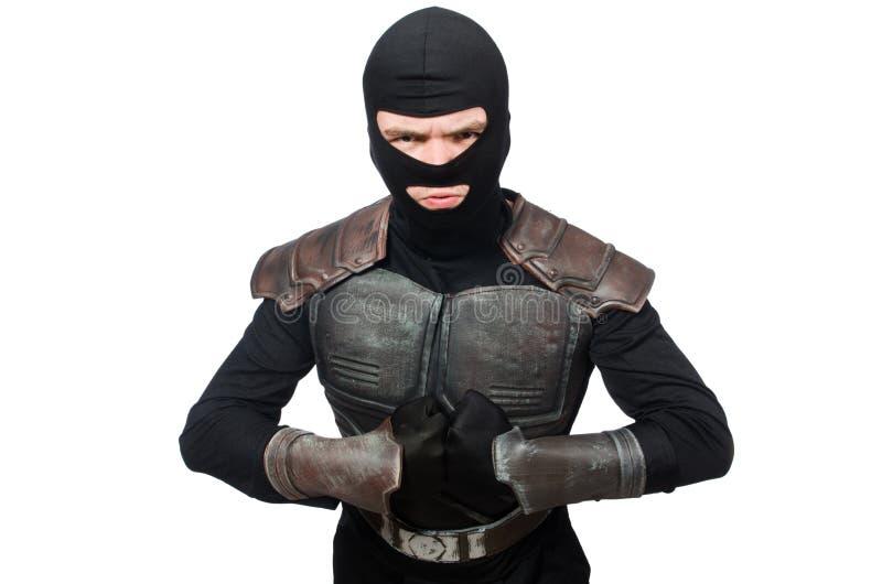 Grappige geïsoleerde ninja royalty-vrije stock afbeeldingen