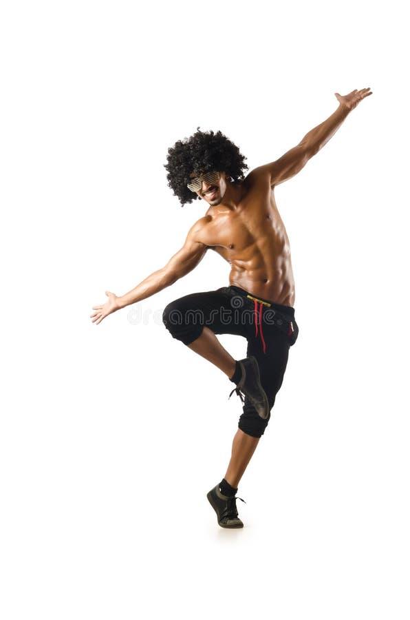Grappige geïsoleerdee danser royalty-vrije stock afbeelding