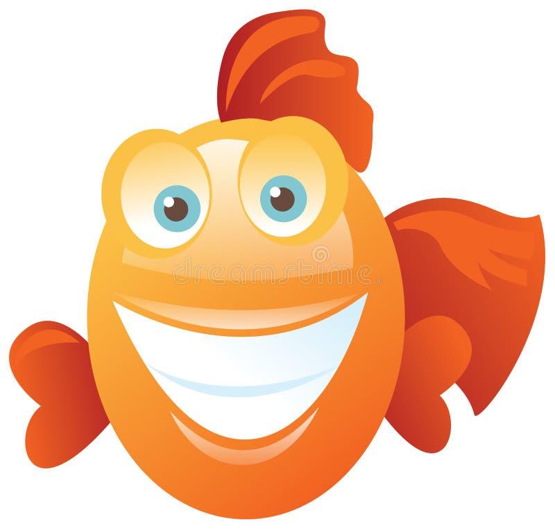 Grappige gelukkige vissen vector illustratie