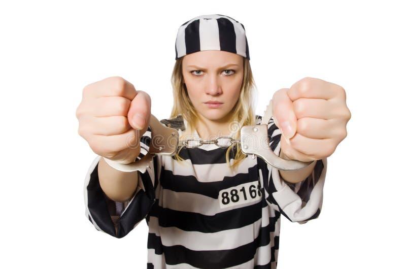 Grappige gevangenismedebewoner royalty-vrije stock foto's
