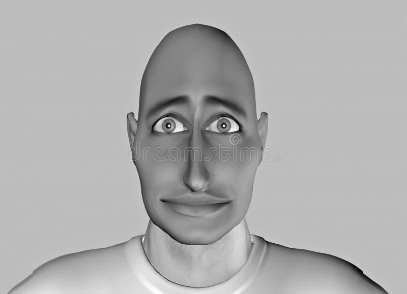 Grappige gezicht-13 stock illustratie