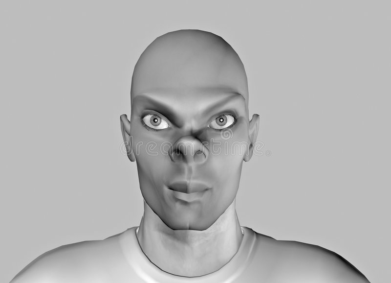 Grappige gezicht-14 royalty-vrije illustratie