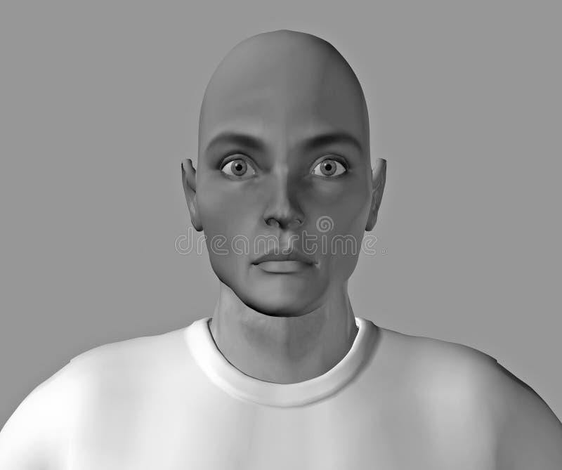 Grappige gezicht-2 stock illustratie