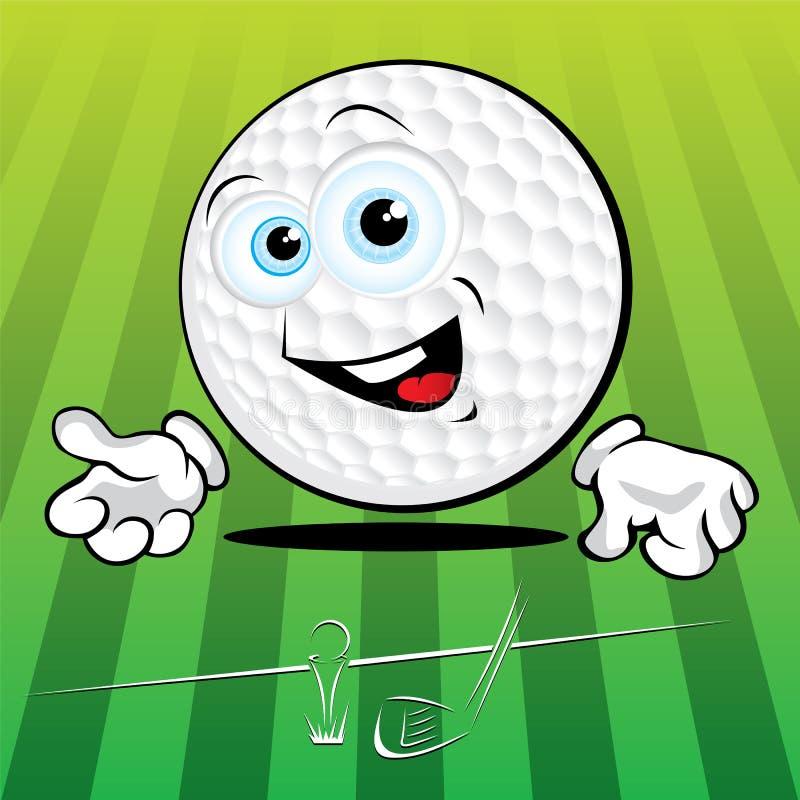 Grappige Golfbal stock illustratie