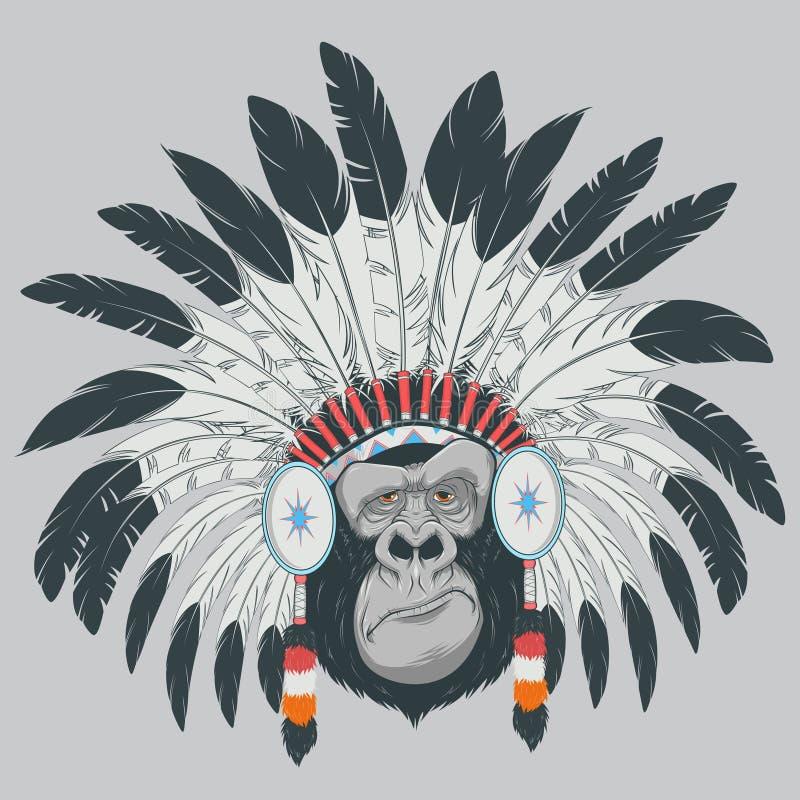 Grappige gorilla stock illustratie
