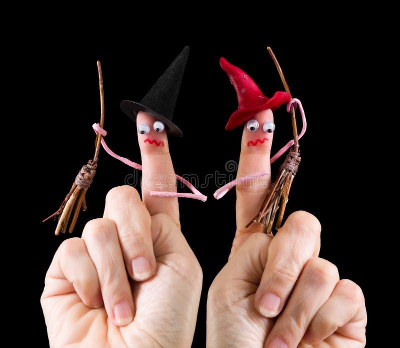 Grappige Halloween-heksen royalty-vrije stock foto's