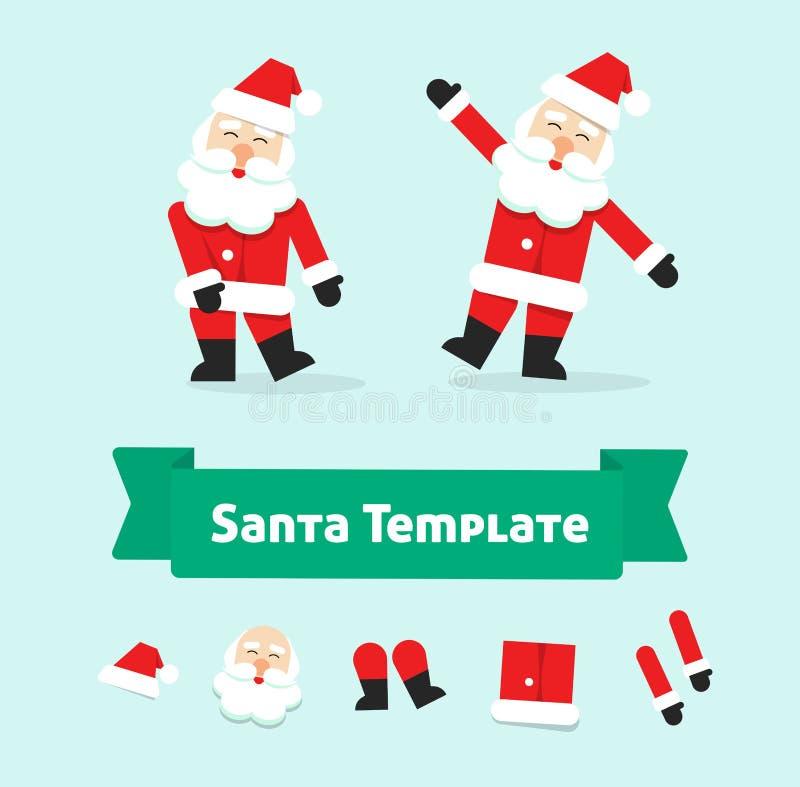 Grappige het dansen de Kerstman vector, Kerstman in dans stock illustratie