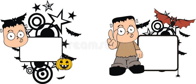 Grappige het exemplaarruimte van Halloween van het frankensteinbeeldverhaal royalty-vrije illustratie