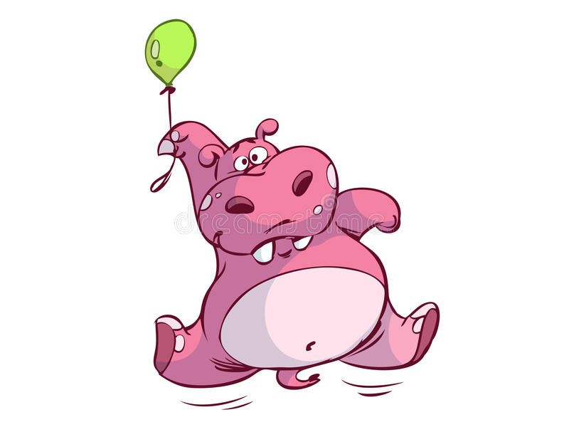 Grappige Hippo royalty-vrije illustratie
