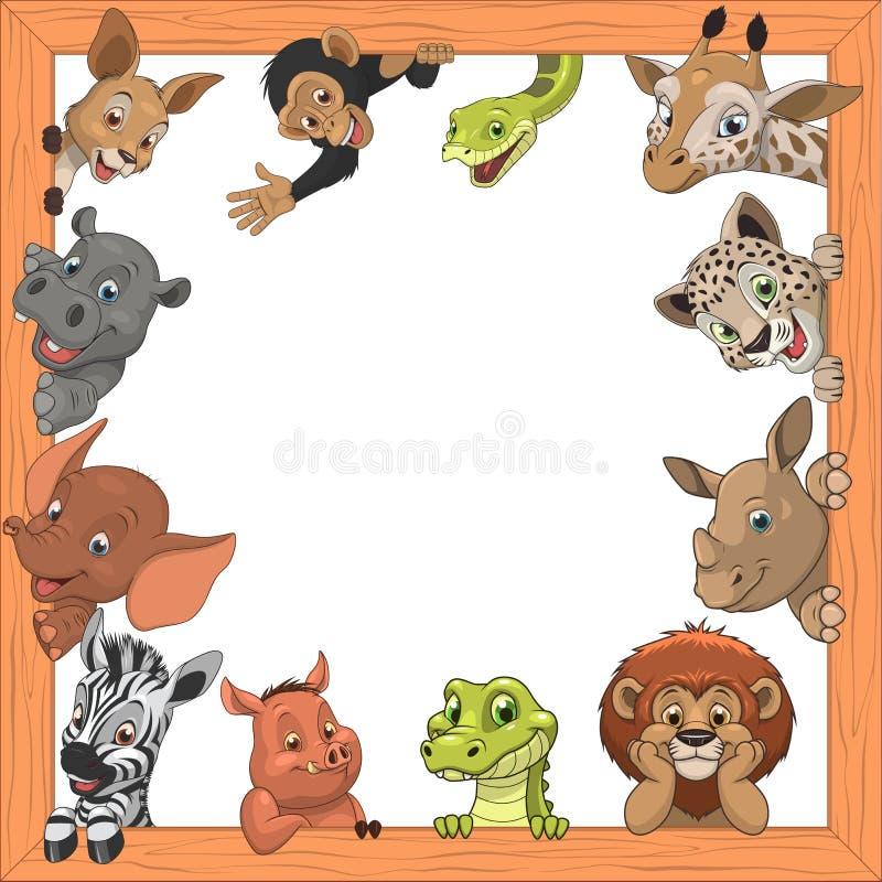 Grappige jonge geitjesdieren royalty-vrije illustratie