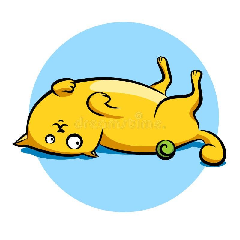Download Grappige kat vector illustratie. Illustratie bestaande uit lying - 54083512