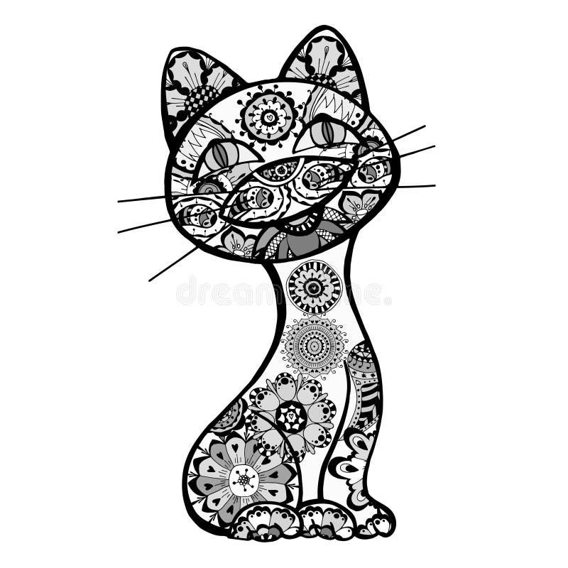 Grappige katten royalty-vrije illustratie