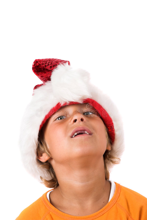 Grappige Kerstmisjongen royalty-vrije stock foto's
