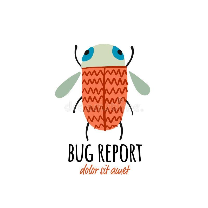 Grappige kever, insectenkarakter voor uw ontwerp royalty-vrije illustratie