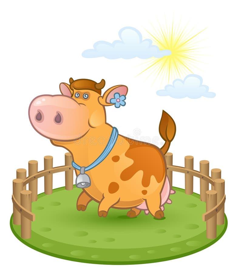 Grappige koe royalty-vrije illustratie