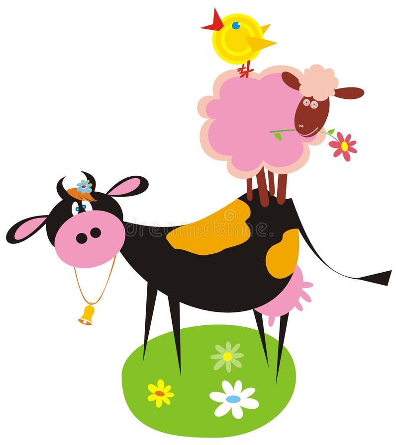 Grappige landbouwbedrijfdieren vector illustratie