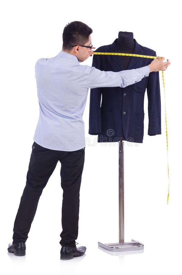 Grappige mannelijke kleermaker stock fotografie