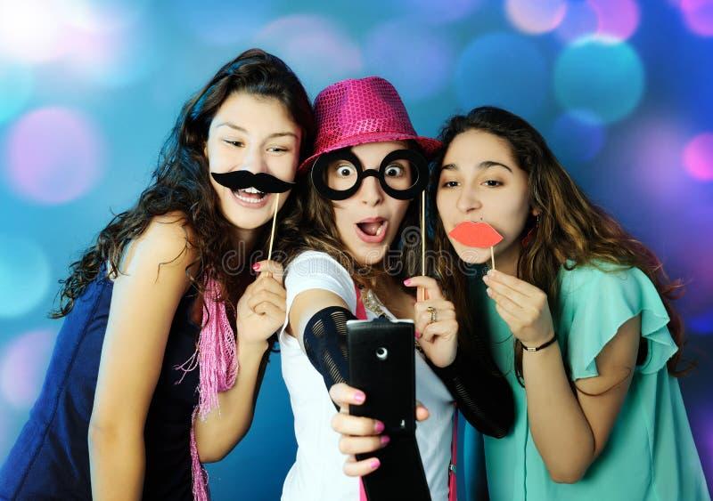 Grappige meisjes royalty-vrije stock afbeeldingen