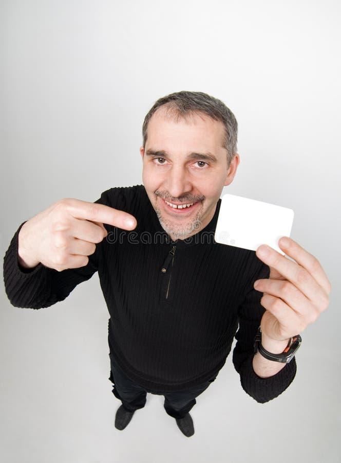 Grappige mens met kaart royalty-vrije stock foto