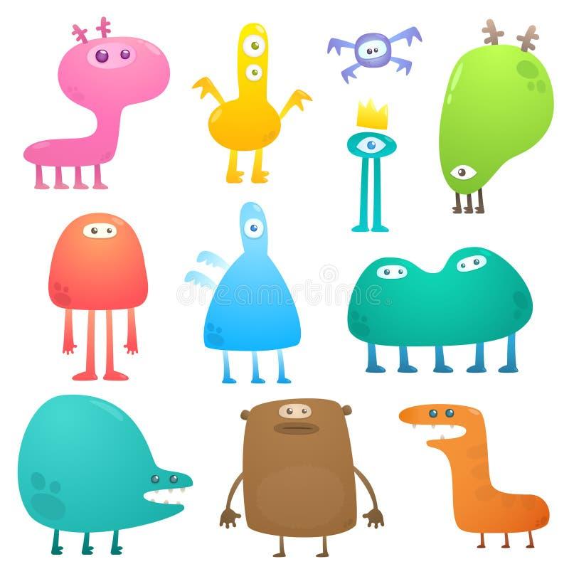 Grappige monsters vector illustratie