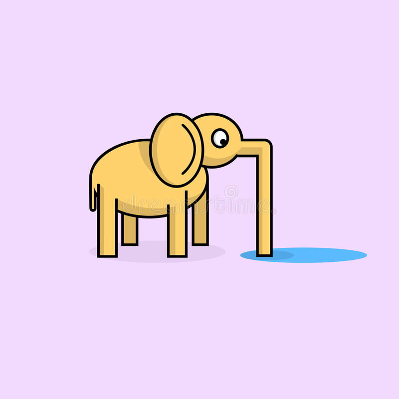 Grappige olifant vector illustratie
