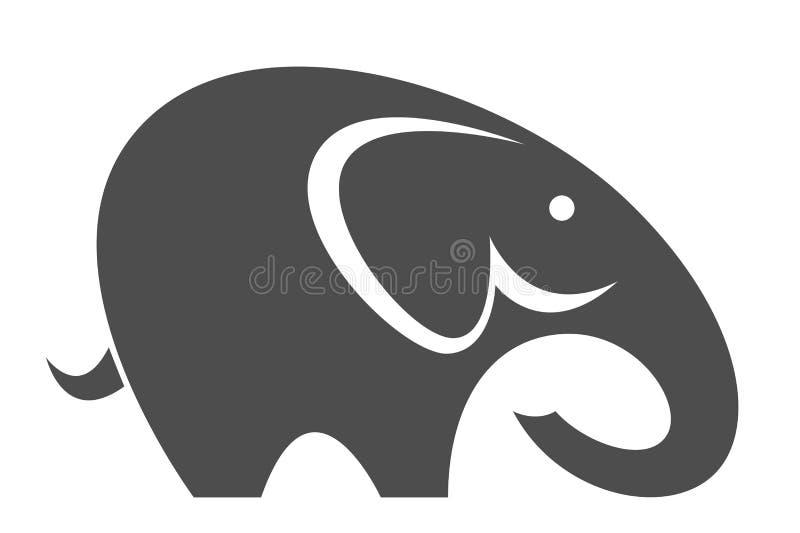 Grappige olifant stock illustratie