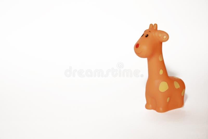 Grappige oranje giraf royalty-vrije stock fotografie