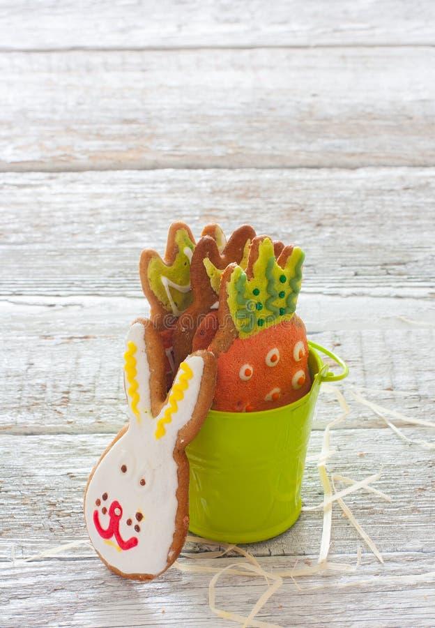 Grappige Pasen-koekjes stock fotografie
