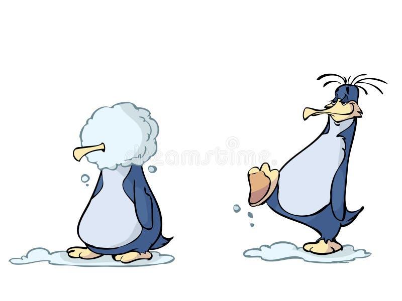 Grappige Pinguïnen royalty-vrije illustratie