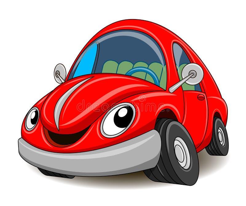 Grappige rode auto Vector illustratie royalty-vrije illustratie