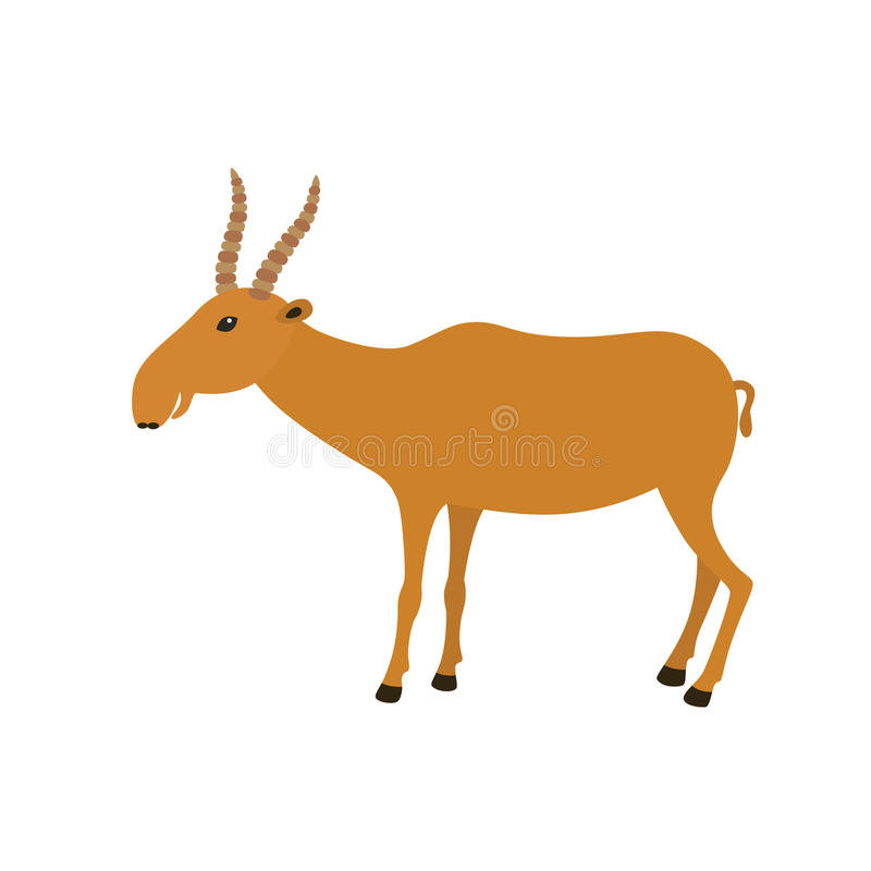 Grappige Saiga-Antilope stock illustratie