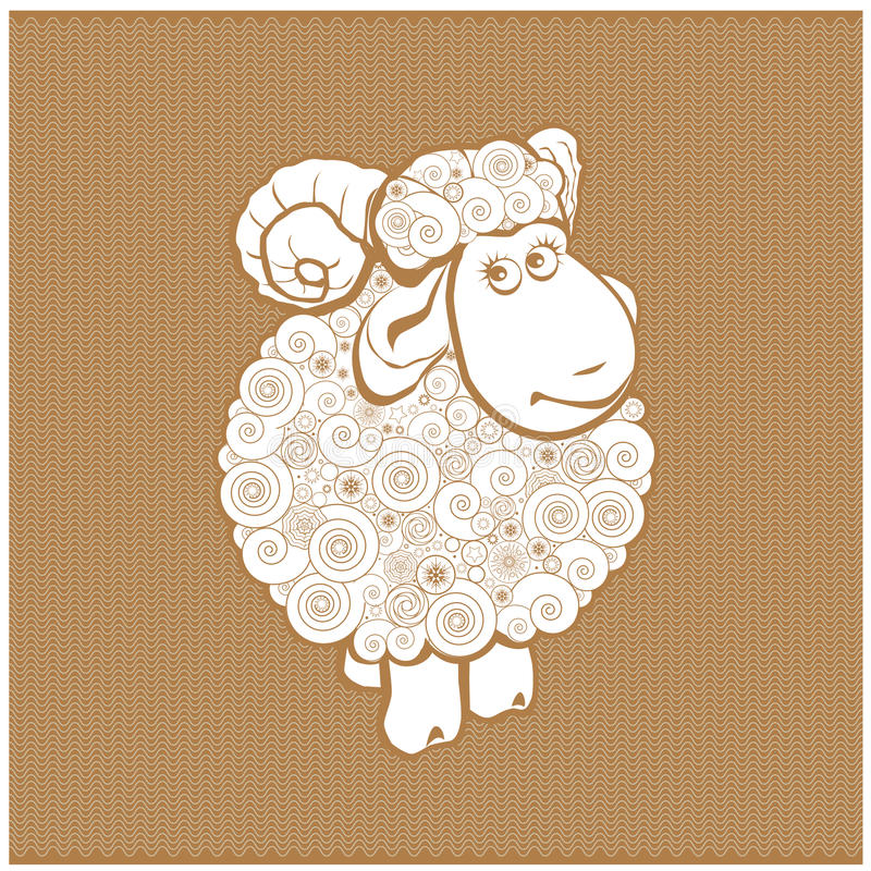 Grappige schapen vector illustratie