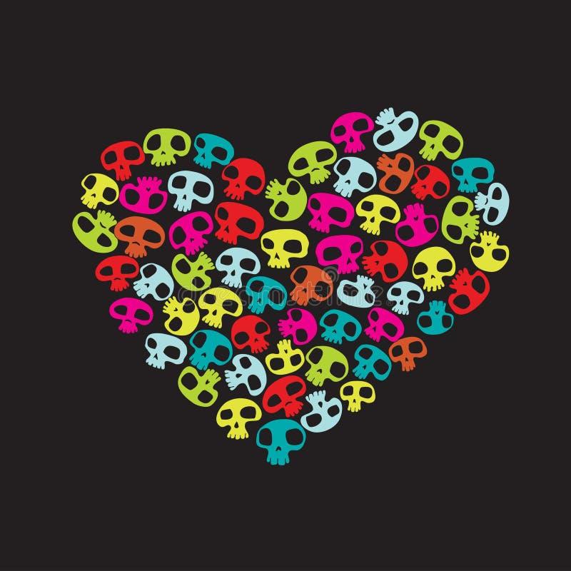 Grappige schedels vector illustratie