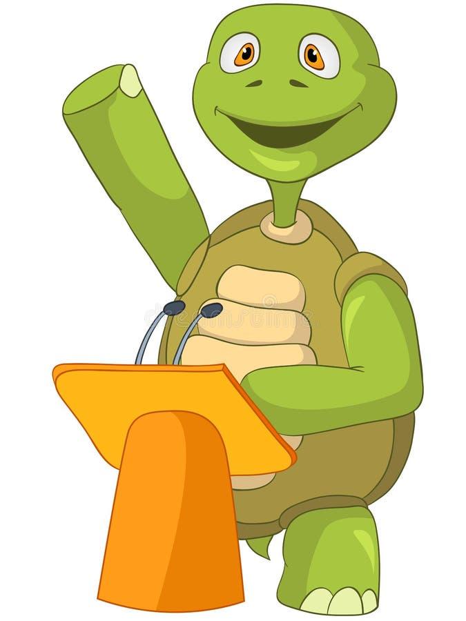 Grappige Schildpad. Presentatie. royalty-vrije illustratie