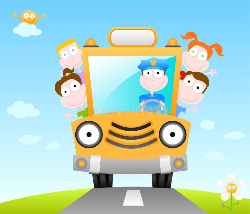 Grappige schoolbus