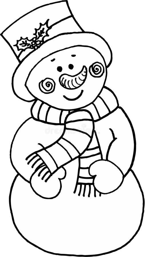 Grappige sneeuwman royalty-vrije illustratie