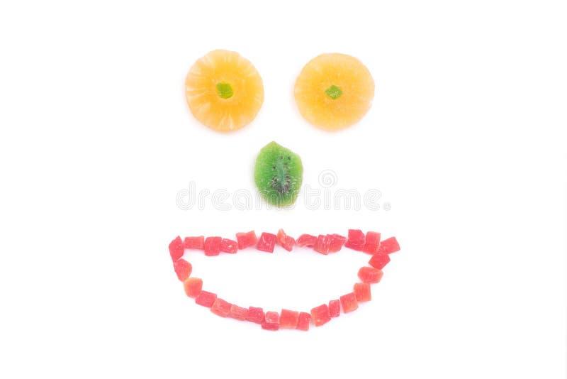 Grappige snuit van gedroogd fruit stock afbeeldingen