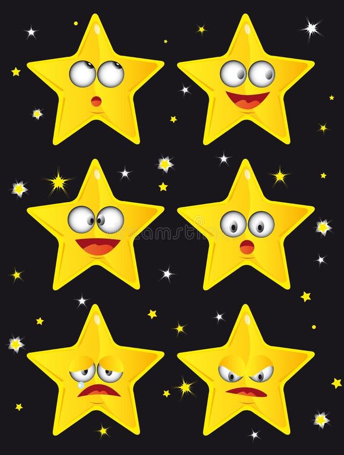 Grappige sterren royalty-vrije illustratie