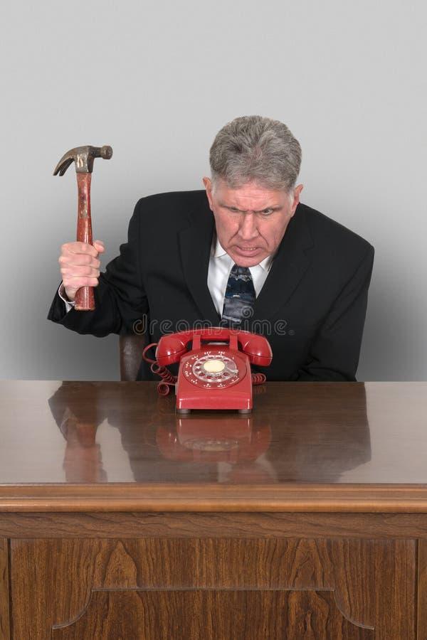 Grappige Telefoonverkoop, Zaken, Marketing royalty-vrije stock afbeelding