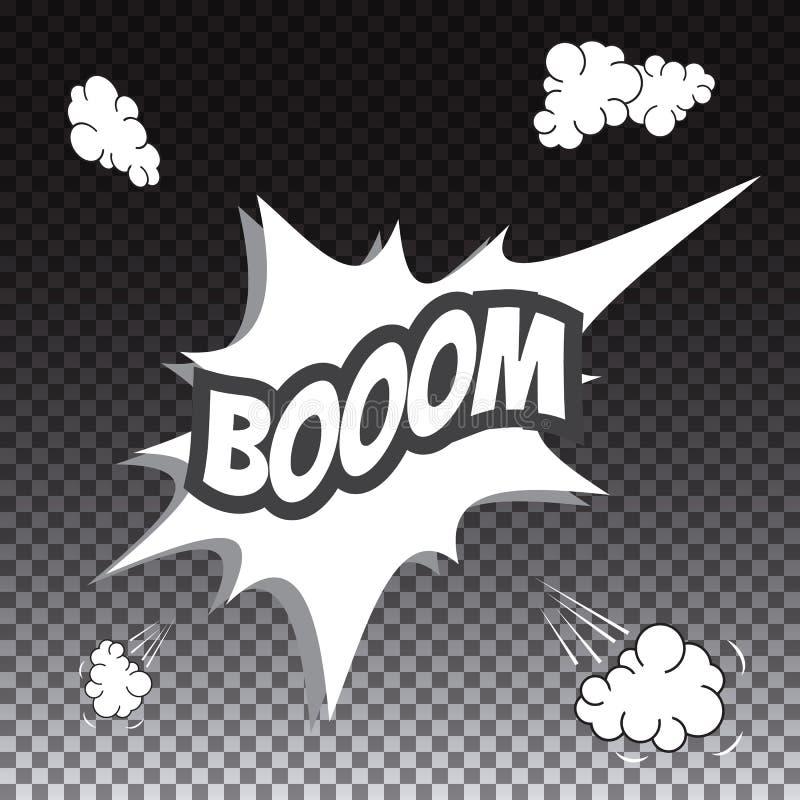 Grappige toespraakbel, Boom stock illustratie